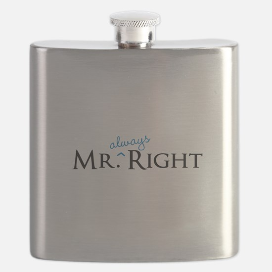 Mr always Right part of his and hers set Flask