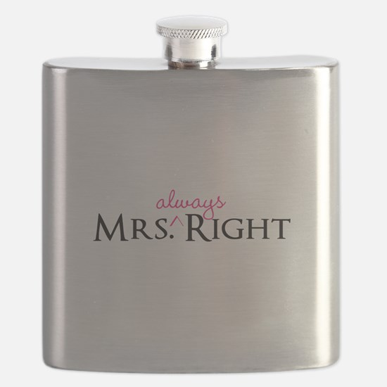 Mrs Always Right part of his and hers set Flask