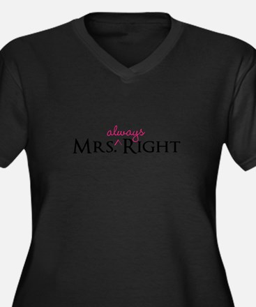 Mrs Always Right part of his and hers set Plus Siz