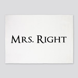 Mrs Right part of his and hers set 5'x7'Area Rug