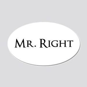 Mr Right part of his and hers set Wall Sticker