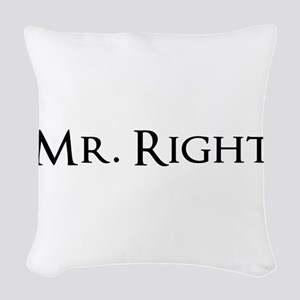 Mr Right part of his and hers set Woven Throw Pill
