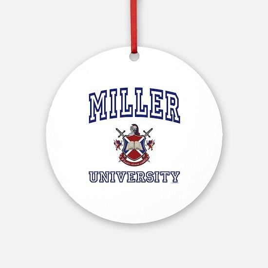 MILLER University Ornament (Round)