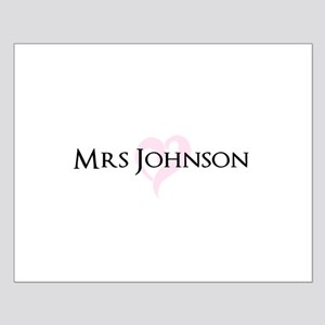 Own name Mr and Mrs set - Heart Mrs Poster Design