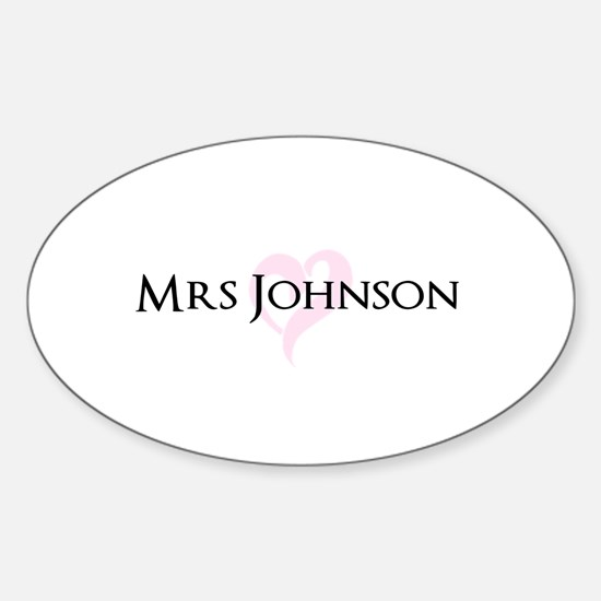 Own name Mr and Mrs set - Heart Mrs Decal