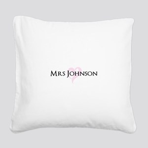 Own name Mr and Mrs set - Heart Mrs Square Canvas