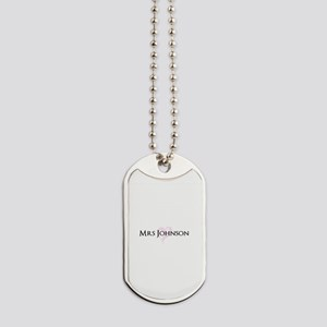 Own name Mr and Mrs set - Heart Mrs Dog Tags