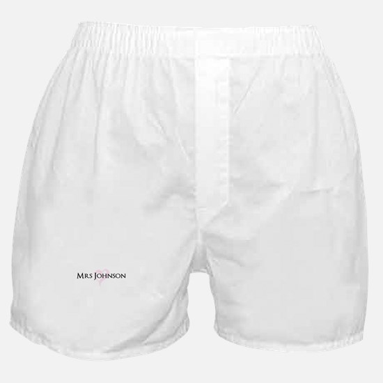 Own name Mr and Mrs set - Heart Mrs Boxer Shorts