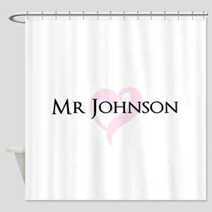 Own name Mr and Mrs set - Mr Shower Curtain