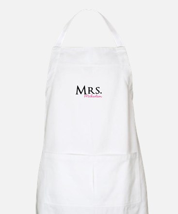 Your own name Mr and Mrs set - Mrs Apron