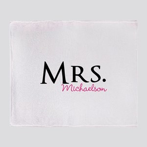 Your own name Mr and Mrs set - Mrs Throw Blanket