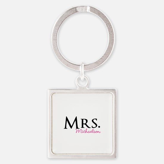Your own name Mr and Mrs set - Mrs Keychains