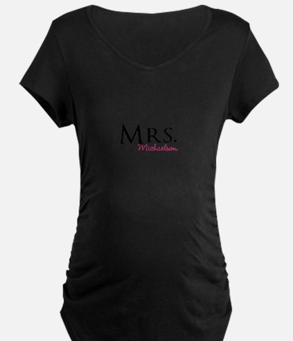 Your own name Mr and Mrs set - Mrs Maternity T-Shi