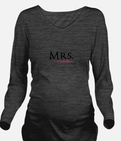 Your own name Mr and Mrs set - Mrs Long Sleeve Mat