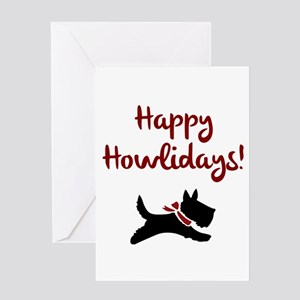 Happy Howlidays Greeting Cards