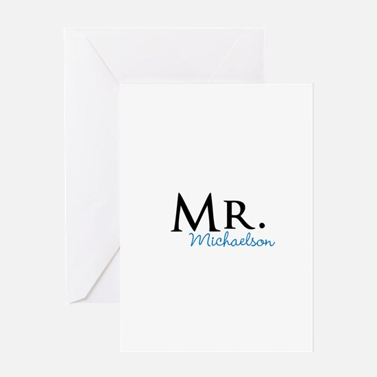 Your name Mr and Mrs set - Mr Greeting Cards