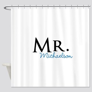 Your name Mr and Mrs set - Mr Shower Curtain