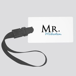 Your name Mr and Mrs set - Mr Large Luggage Tag