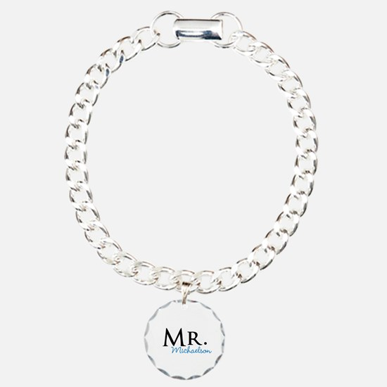 Your name Mr and Mrs set - Mr Bracelet