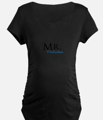 Your name Mr and Mrs set - Mr Maternity T-Shirt