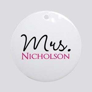 Customizable Name Mrs Round Ornament