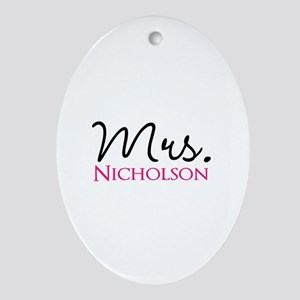 Customizable Name Mrs Oval Ornament