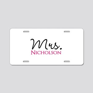 Customizable Name Mrs Aluminum License Plate