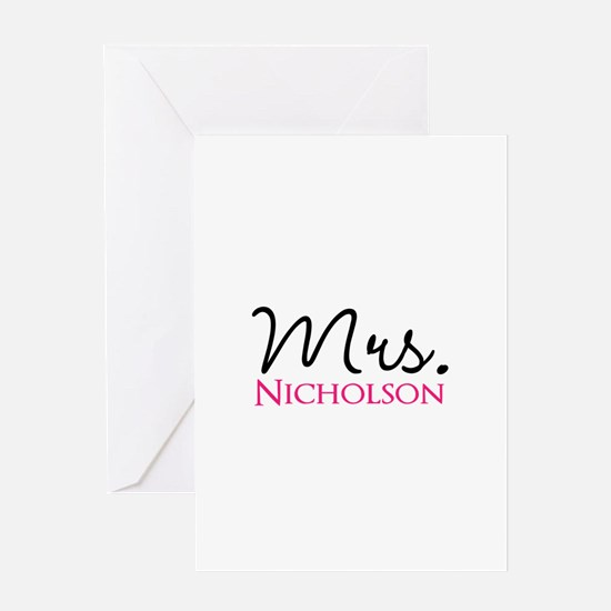 Customizable Mr and Mrs set - Mrs Greeting Cards