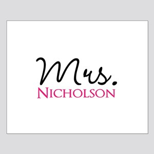 Customizable Mr and Mrs set - Mrs Poster Design