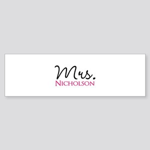 Customizable Mr and Mrs set - Mrs Bumper Sticker