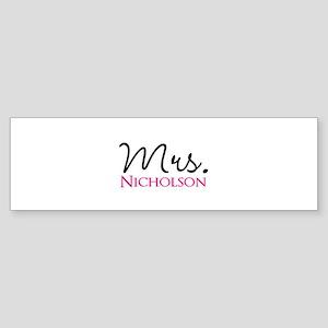 Customizable Name Mrs Sticker (Bumper)
