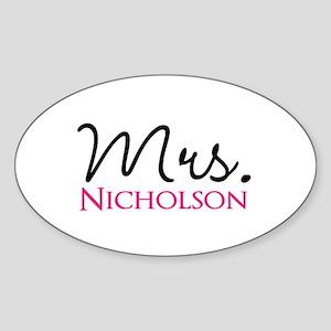 Customizable Mr and Mrs set - Mrs Sticker