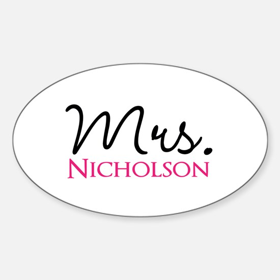 Customizable Mr and Mrs set - Mrs Decal