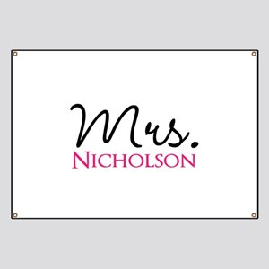 Customizable Mr and Mrs set - Mrs Banner