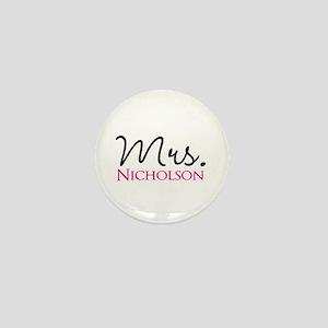 Customizable Name Mrs Mini Button