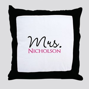Customizable Name Mrs Throw Pillow