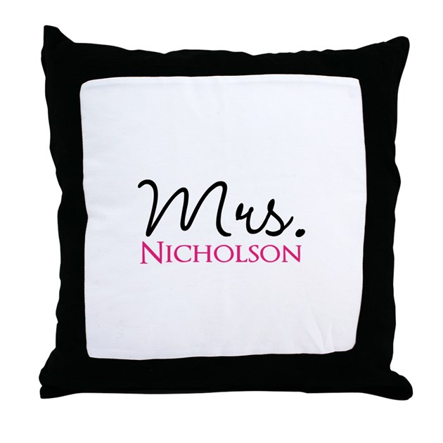 Customizable Mr And Mrs Set Mrs Throw Pillow By Admin