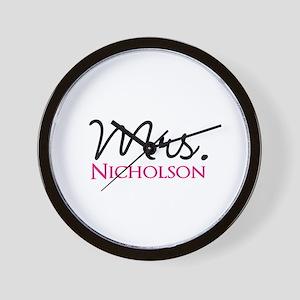 Customizable Mr and Mrs set - Mrs Wall Clock