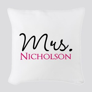 Customizable Mr and Mrs set - Mrs Woven Throw Pill