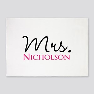 Customizable Mr and Mrs set - Mrs 5'x7'Area Rug