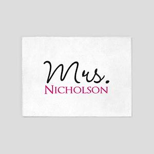 Customizable Name Mrs 5'x7'Area Rug