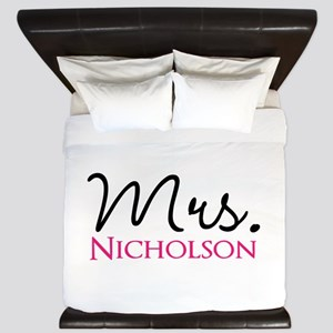 Customizable Mr and Mrs set - Mrs King Duvet