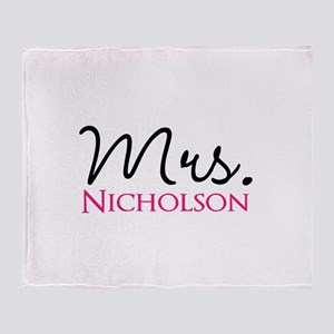 Customizable Name Mrs Throw Blanket