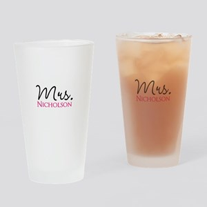 Customizable Name Mrs Drinking Glass