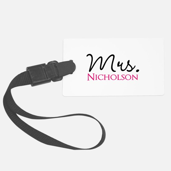 Customizable Mr and Mrs set - Mrs Luggage Tag
