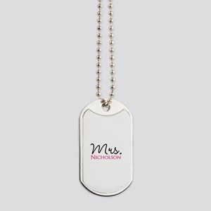 Customizable Mr and Mrs set - Mrs Dog Tags