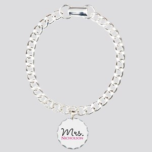 Customizable Mr and Mrs set - Mrs Charm Bracelet,