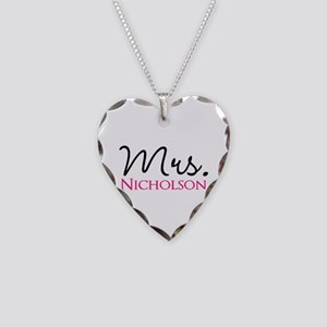 Customizable Mr and Mrs set - Mrs Necklace Heart C