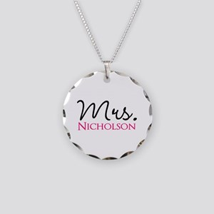 Customizable Mr and Mrs set - Mrs Necklace Circle