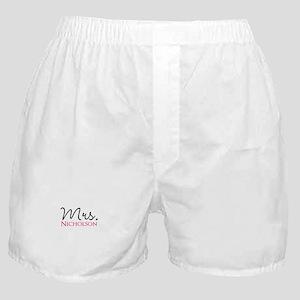 Customizable Mr and Mrs set - Mrs Boxer Shorts